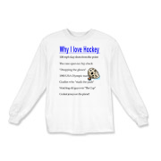 Why I Love Hockey Kids Long Sleeve T-Shirt
