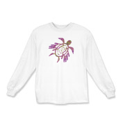 Winged Turtle - Purple Kids Long Sleeve T-Shirt