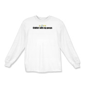 Chillin' With My Peeps Kids Long Sleeve T-Shirt
