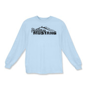 Classic Kids Long Sleeve T-Shirt features our popular Prestige Mustang Fade Logo design on the front