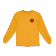 A basketball is the feature on the pocket area of this Kids Long Sleeve T-Shirt - available in many colors.