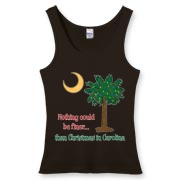 Buy a Nothing Finer than Christmas in Carolina Palmetto Moon Women's Fitted Tank Top. Nothing could be finer than Christmas in Carolina.