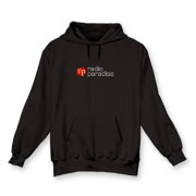 Hooded Sweatshirt, logo front only, Black or Navy