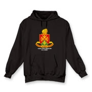 158th Artillery, MLRS - Dark Color Hooded Sweatshirts: Front Insignia Only, Available in 9 Dark Colors.