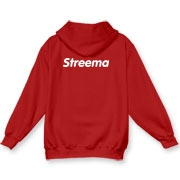 Hooded Sweatshirt (All Colors): White Logo on Back