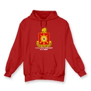 171st Field Artillery - Dark Color, Hooded Sweatshirts. Front Insignia, Available in 7 Dark Colors.