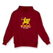 6th Field Artillery - Dark Color, Hooded Sweatshirts. Front Insignia, Available in 8 Dark Colors.