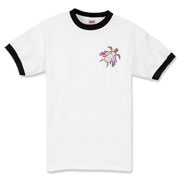 Winged Turtle - Purple Ringer T-Shirt