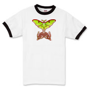 Celtic Lunar Moth Ringer T-Shirt