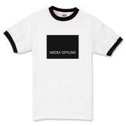 Media Offline (center) Ringer T-Shirt