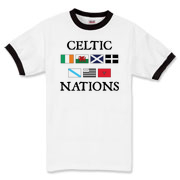 The Celtic Nations t-shirt you've been waiting for.  Wales, Ireland, the Isle of Man, Brittany, Cornwall,  Galicia, and Scotland together on a tee!  Murchada Outfitters hopes you enjoy the Celtic Nations!