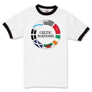 The Celtic Nations t-shirt you've been waiting for. Wales, Ireland, the Isle of Man, Brittany, Cornwall, Galicia, and Scotland together on a tee (in a circle)! Murchada Outfitters hopes you enjoy the Celtic Nations!