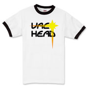 Vac Head (Black-Yellow) Ringer T-Shirt
