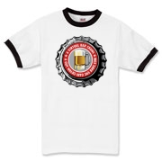 Men's Ringer T-Shirt with Red 365 Bars Logo.