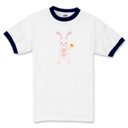 Celebrate Chinese New Year with this cute year of the metal rabbit shirt! This rabbit is happily carrying a red and gold pinwheel with bells! Also a great gift for someone who just loves rabbits! Pink Version.
