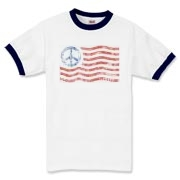 Show that Americans want peace with one of our unique peace flag shirts.  Follow links to my sister store where I feature many more peace sign, and world peace designs.