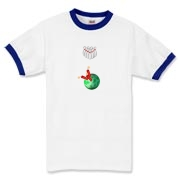 This humorous Dynamite Bowler bowling t-shirt design shows a bowling ball with sticks of dynamite in the finger holes, all lined up and ready to knock down the bowling pins. You do want to get a strike, right?