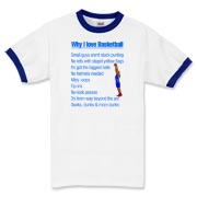 Why I Love Basketball Ringer T-Shirt