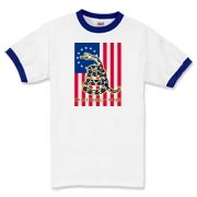 Don't Tread on Me- Revolution (vertical) Ringer T-