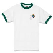 This comical flaming bowling ball ringer t-shirt has a pocket-sized emblem that shows a bowling pin in total terror as a flaming bowling ball chases it down.