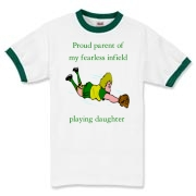 Proud of Infielder Daughter Ringer T-Shirt