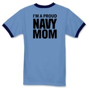 Proud...NAVY For Moms Apparel Ringer T-Shirt