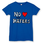 No Love For Haters Women's Tee. Design By Austin Lee.