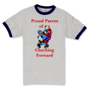 Proud of Checking Forward Ringer T-Shirt