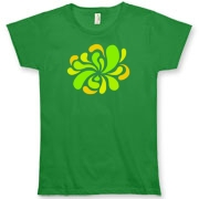 Swirl Burst Green Organic Women's T-Shirt