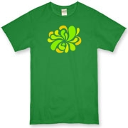 Swirl Burst Green Organic T-Shirt