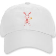 Celebrate Chinese New Year with this cute year of the metal rabbit hat! This rabbit is happily carrying a red and gold pinwheel with bells! Also a great gift for someone who just loves rabbits! Red Version.