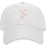 Celebrate Chinese New Year with this cute year of the metal rabbit hat! This rabbit is happily carrying a red and gold pinwheel with bells! Also a great gift for someone who just loves rabbits! Pink Version.