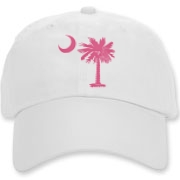 Buy a Pink Palmetto Moon Deluxe Cotton Hat. The palmetto moon is a symbol of South Carolina pride.