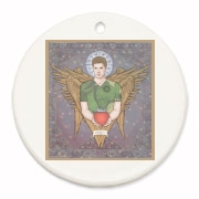 Angel Dean Round Ornament