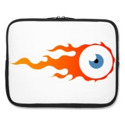 Flaming eye Laptop Sleeve
