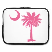 Buy a Pink Palmetto Moon Laptop Sleeve. The palmetto moon is a symbol of South Carolina pride.