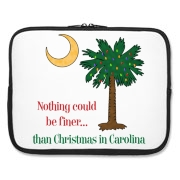 Buy a Nothing Finer than Christmas in Carolina Palmetto Moon Laptop Sleeve. Nothing could be finer than Christmas in Carolina.