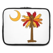 Buy a Thanksgiving Turkey Palmetto Moon Laptop Sleeve and celebrate Turkey Day South Carolina style.