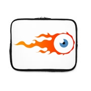 Flaming eye iPad Sleeve