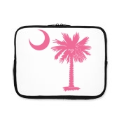 Buy a Pink Palmetto Moon iPad Sleeve. The palmetto moon is a symbol of South Carolina pride.