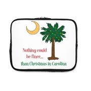 Buy a Nothing Finer than Christmas in Carolina Palmetto Moon iPad Sleeve. Nothing could be finer than Christmas in Carolina.