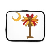 Buy a Thanksgiving Turkey Palmetto Moon iPad Sleeve and celebrate Turkey Day South Carolina style.