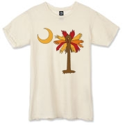 Buy a Thanksgiving Turkey Palmetto Moon Alternative Apparel Destroyed T-Shirt and celebrate Turkey Day South Carolina style.
