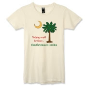 Buy a Nothing Finer than Christmas in Carolina Palmetto Moon Alternative Apparel Women's Destroyed T-Shirt. Nothing could be finer than Christmas in Carolina.