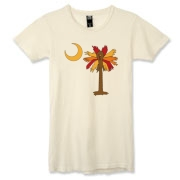 Buy a Thanksgiving Turkey Palmetto Moon Alternative Apparel Women's Destroyed T-Shirt and celebrate Turkey Day South Carolina style.