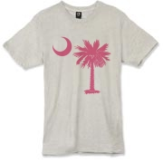 Buy a Pink Palmetto Moon Alternative Apparel Burnout T-Shirt 		. The palmetto moon is a symbol of South Carolina pride.