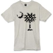 Buy a Black Polka Dot Palmetto Moon Alternative Apparel Burnout T-Shirt 		 that features a black palmetto moon with white polka dots.