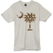 Buy a Chocolate Brown Polka Dot Palmetto Moon Alternative Apparel Burnout T-Shirt 		 that features a brown palmetto moon with white polka dots.