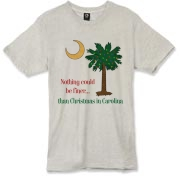 Buy a Nothing Finer than Christmas in Carolina Palmetto Moon Alternative Apparel Burnout T-Shirt 		. Nothing could be finer than Christmas in Carolina.