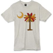Buy a Thanksgiving Turkey Palmetto Moon Alternative Apparel Burnout T-Shirt 		 and celebrate Turkey Day South Carolina style.